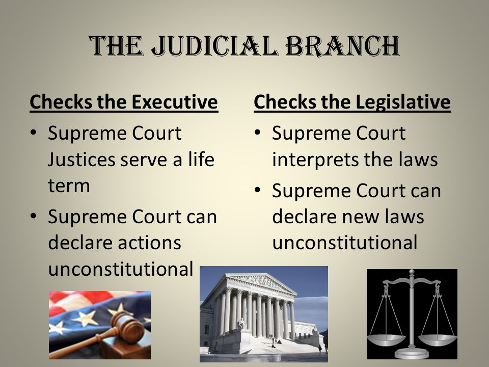 The Judicial Branch Checks the Executive
