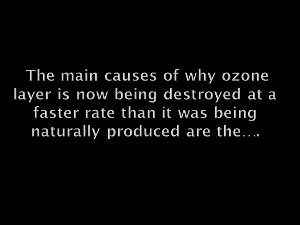 Is The Ozone Naturally Destroyed By Uv Light