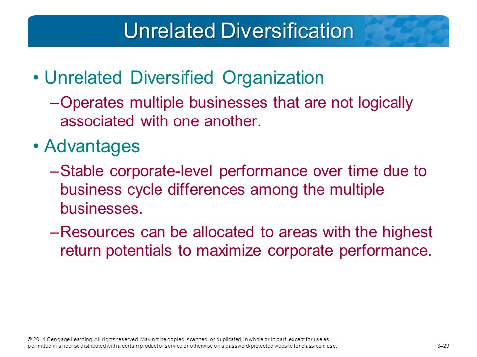 Related diversification strategy advantages and disadvantages