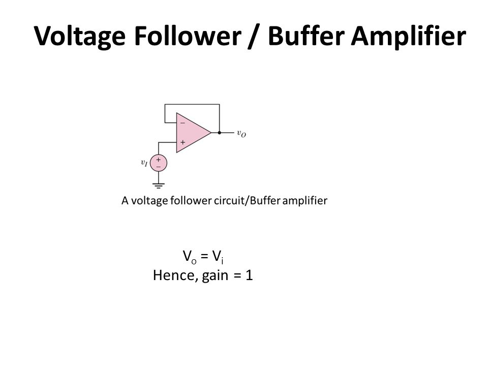 Voltage Follower / Buffer Amplifier