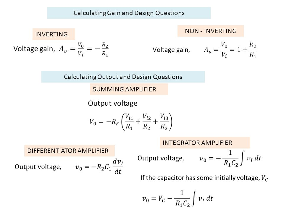 Calculating Gain and Design Questions