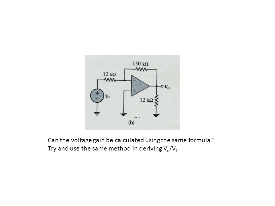 Can the voltage gain be calculated using the same formula