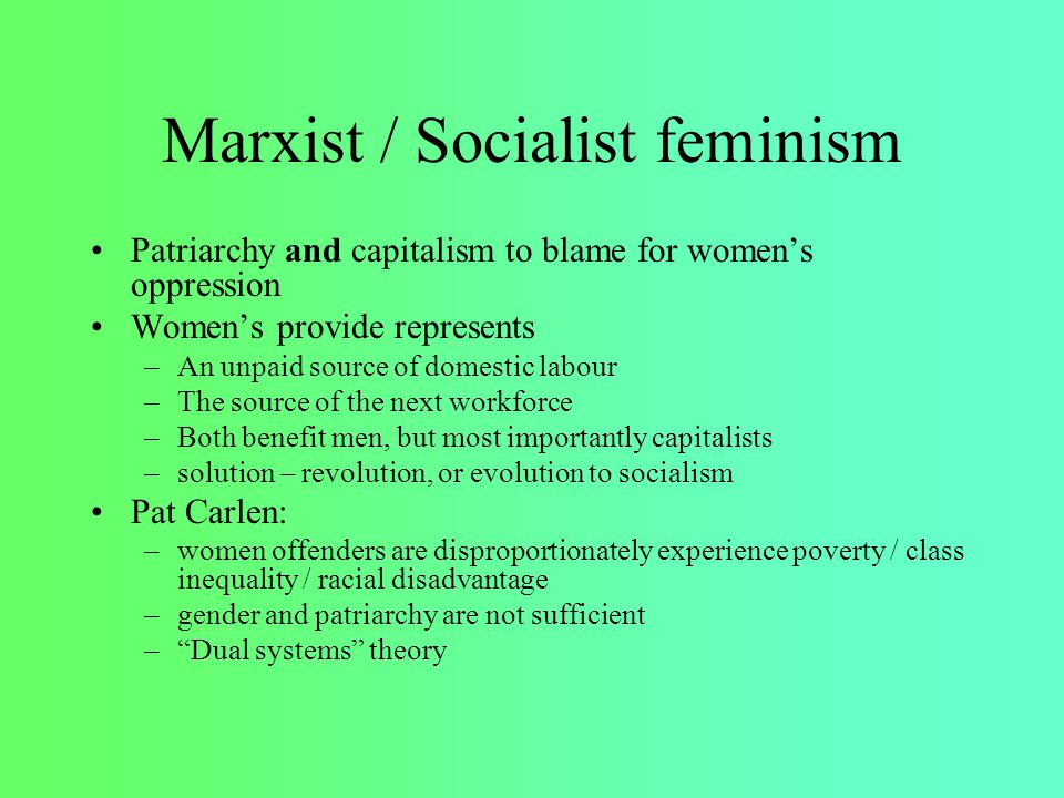 a comparison of liberal and marxist feminism Best answer: both feminism and functionalism operate on a macro approach ie they look at the big picture when investigating society.