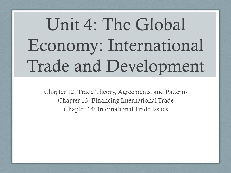globalization trade and development To unctad xii entitled globalization for development: opportunities and  mainstreaming development into the multilateral trading system.