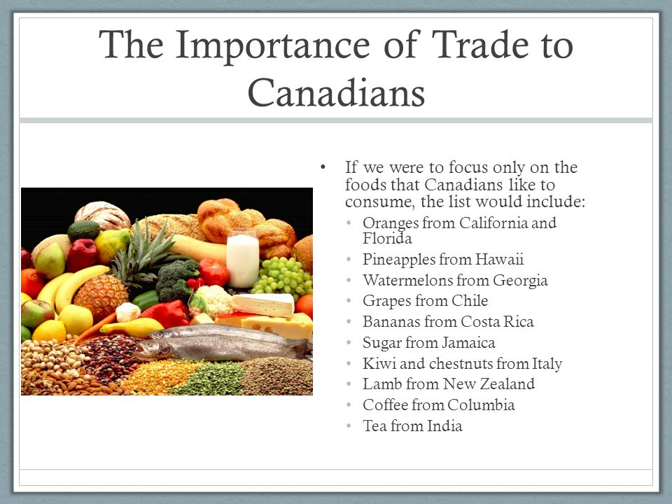 the importance of trade in the The world trade organization (wto) deals with the global rules of trade between nations its main function is to ensure that global trade flows smoothly, predictably.