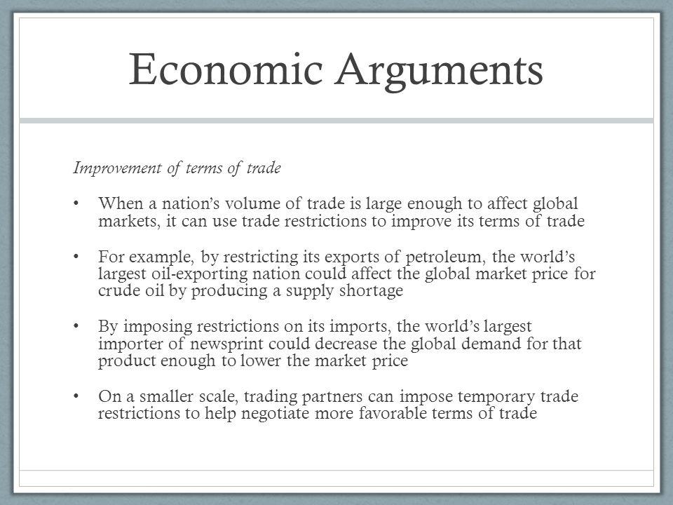Economic terms examples