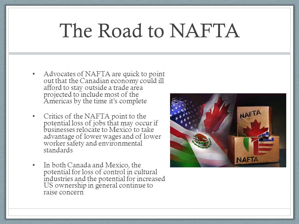 Unit 4 the global economy international trade and development the road to nafta sciox Images