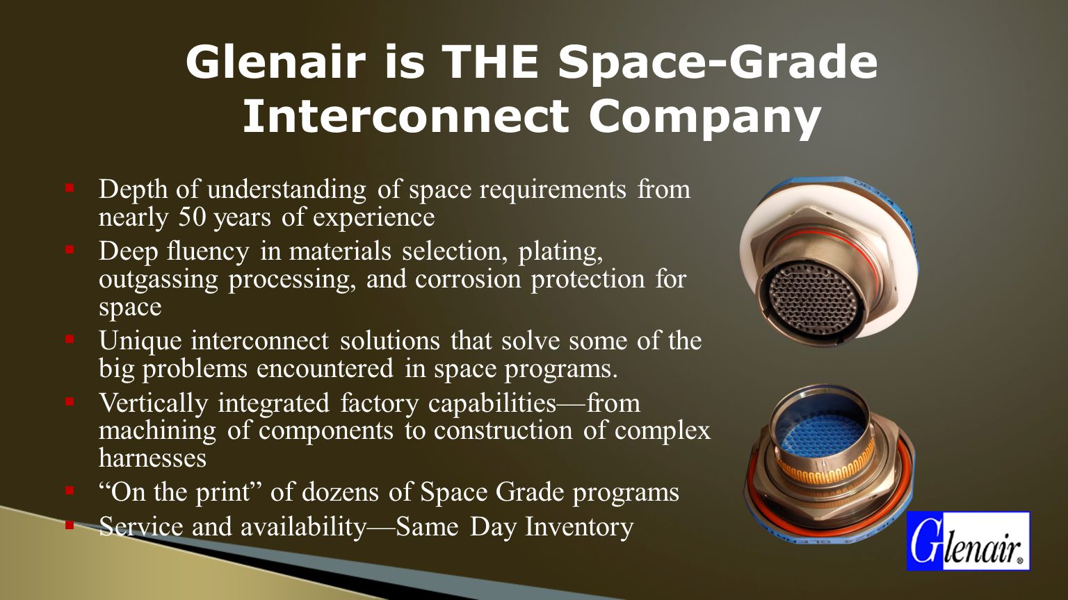 Glenair+is+THE+Space Grade+Interconnect+Company space grade interconnect solutions ppt video online download Interconnect Wiring & Solutions at readyjetset.co