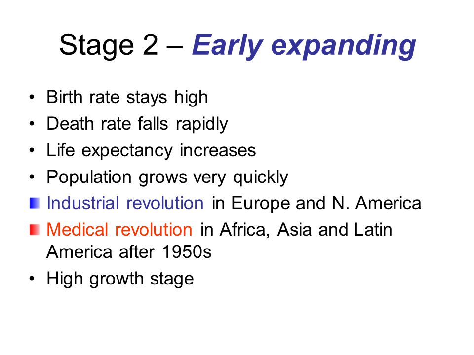 Stage 2 – Early expanding