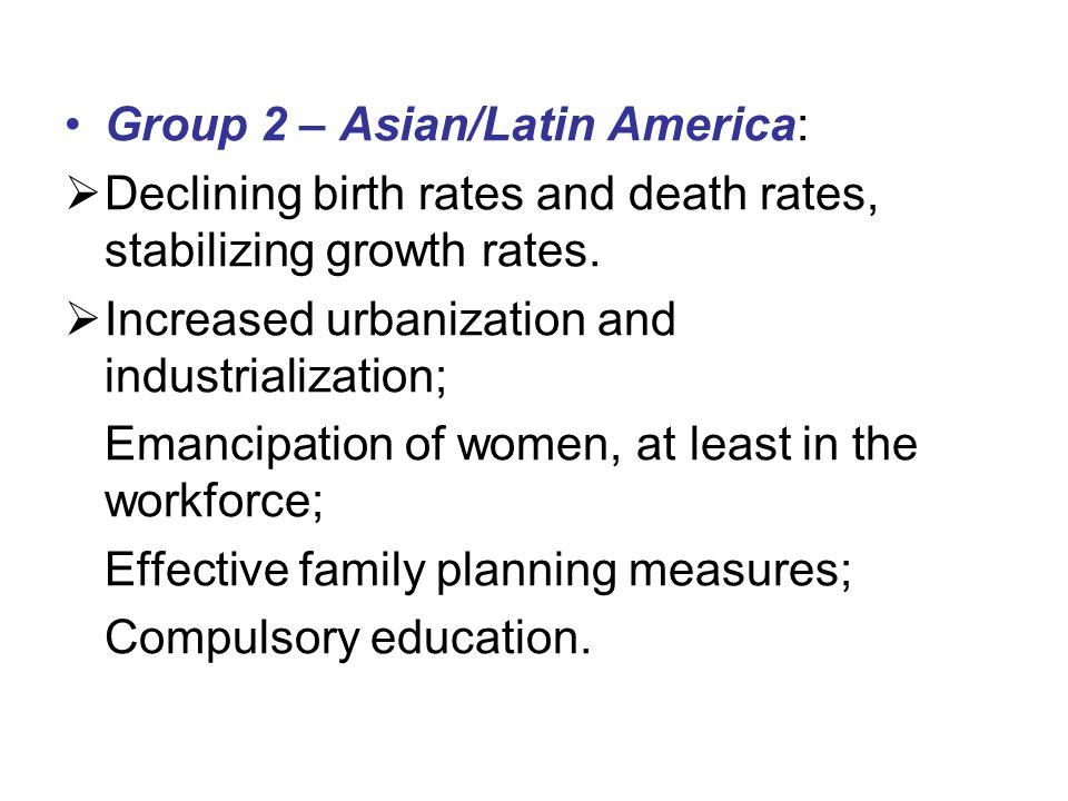 Group 2 – Asian/Latin America:
