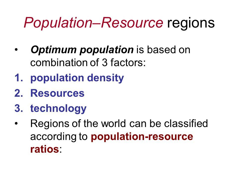 Population–Resource regions