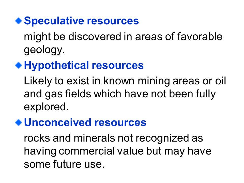 Speculative resources