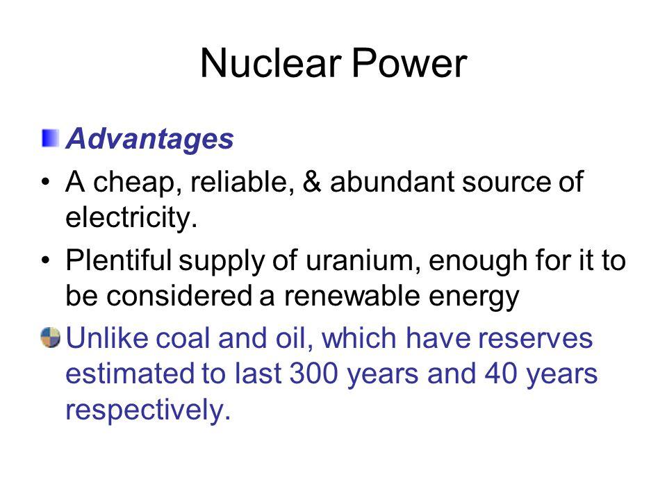 Nuclear Power Advantages