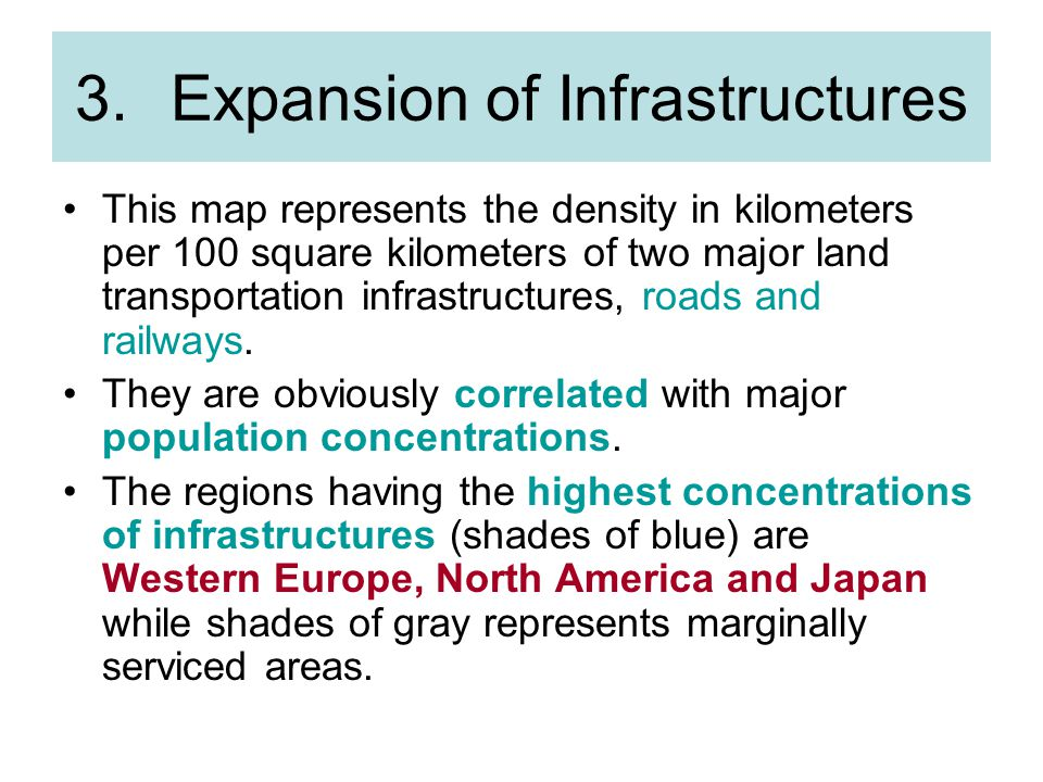 Expansion of Infrastructures