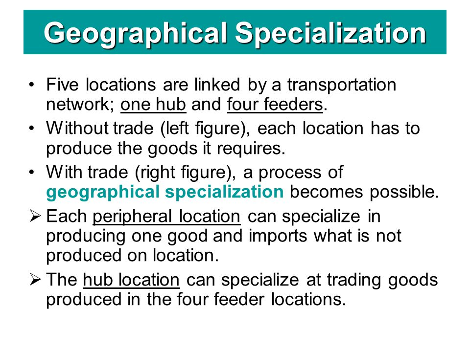 Geographical Specialization