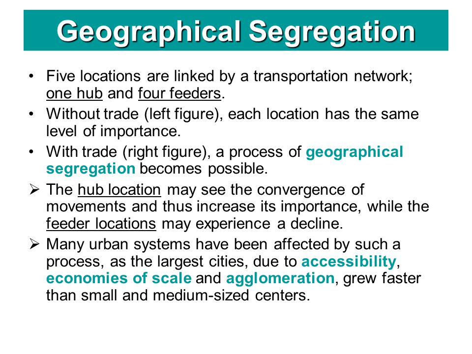 Geographical Segregation