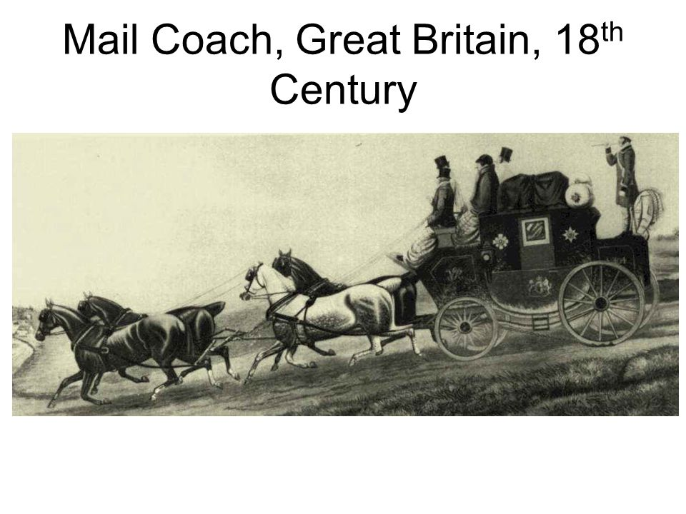 Mail Coach, Great Britain, 18th Century