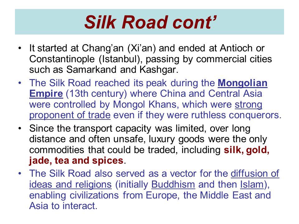 Silk Road cont'