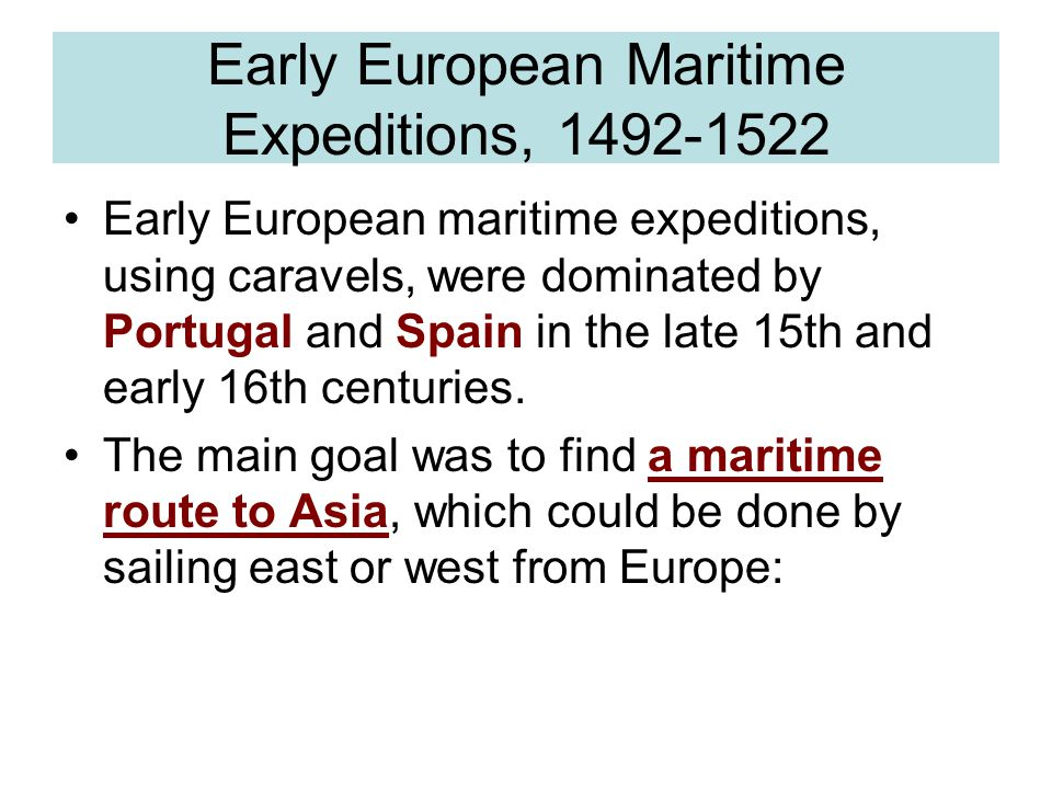 Early European Maritime Expeditions,