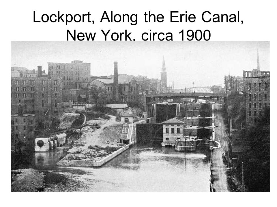 Lockport, Along the Erie Canal, New York, circa 1900