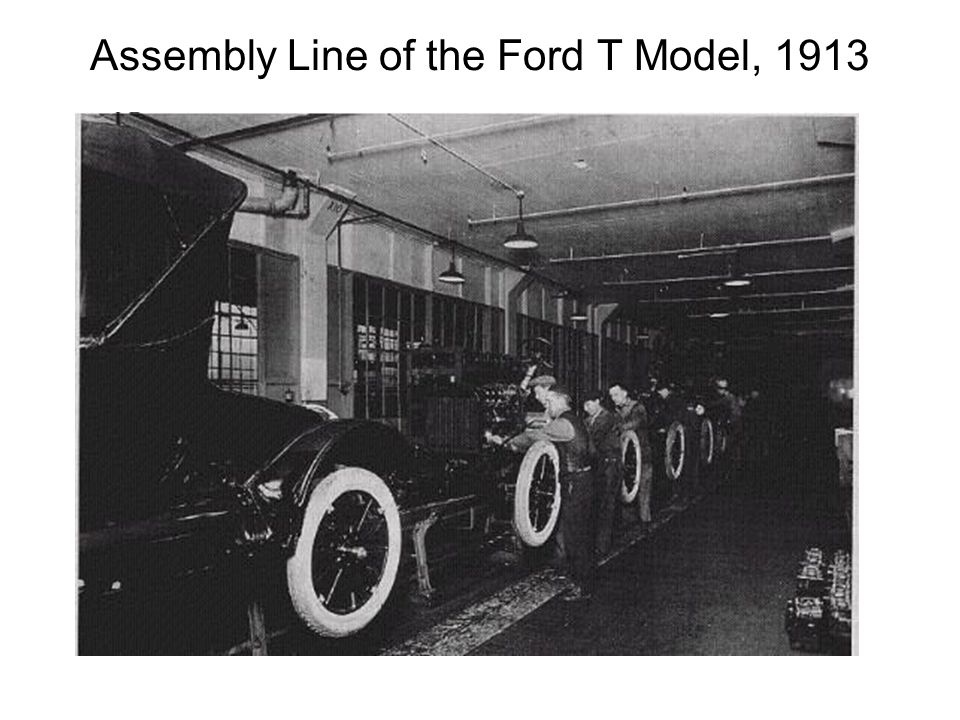 Assembly Line of the Ford T Model, 1913