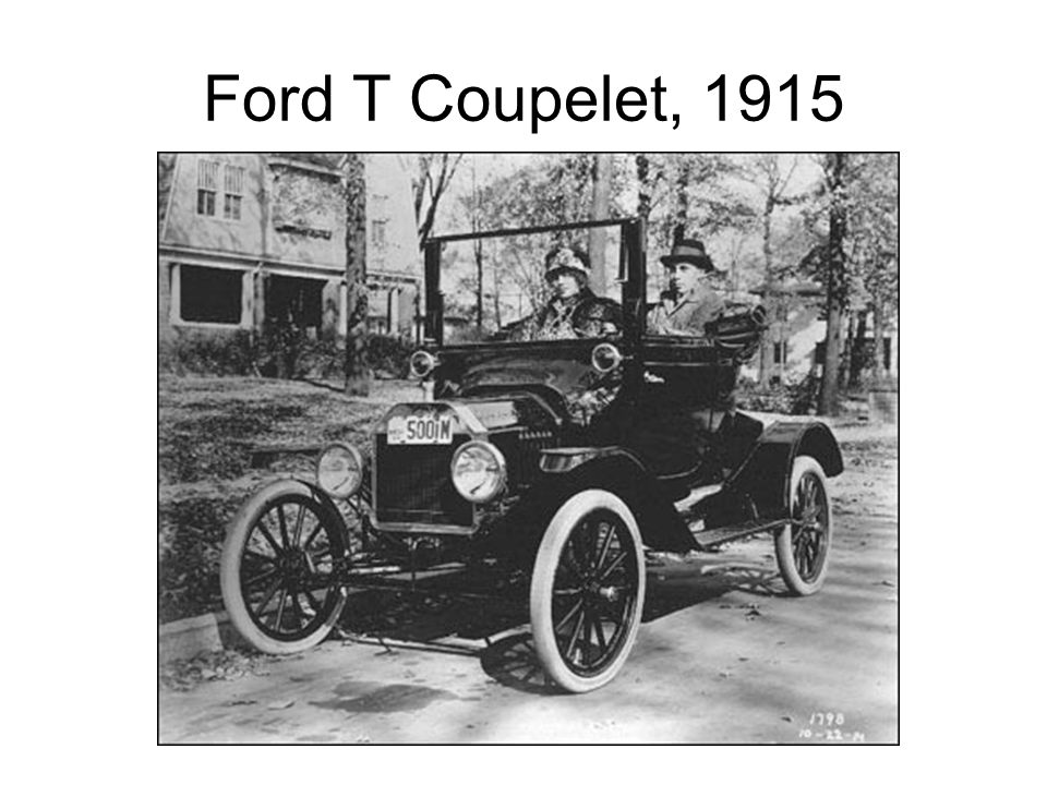 Ford T Coupelet, 1915 Source: Henry Ford Museum & Greenfield Village, Photo: P.833.1798.