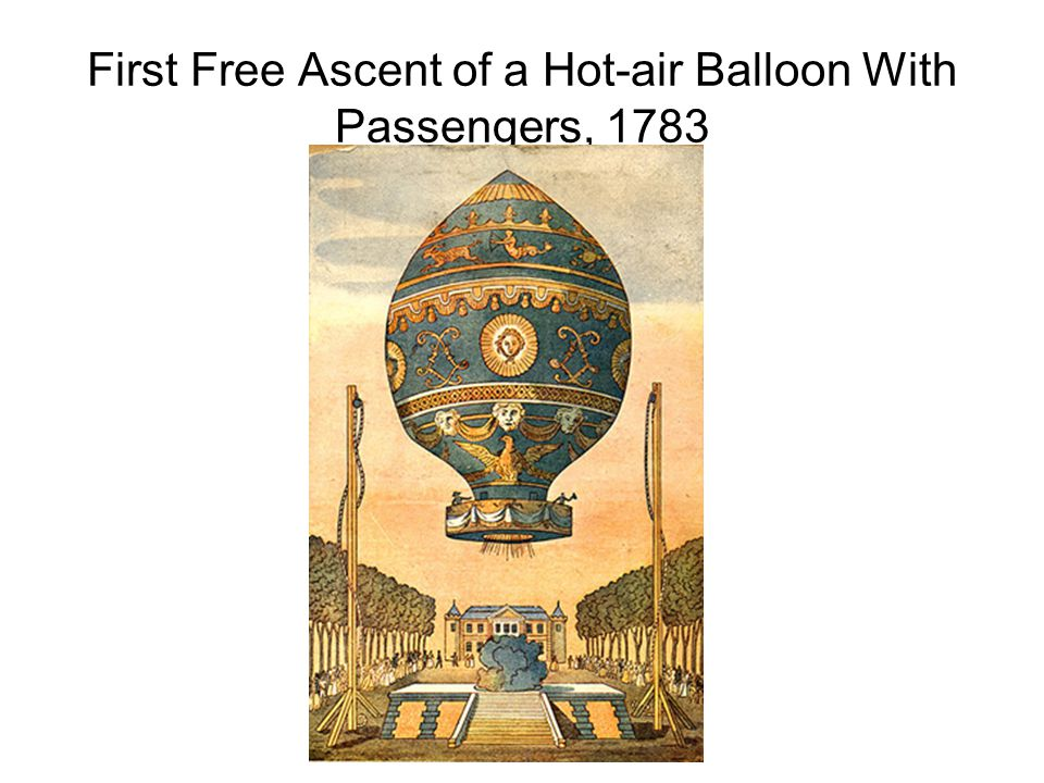 First Free Ascent of a Hot-air Balloon With Passengers, 1783