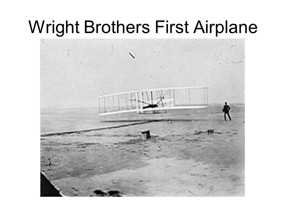 Wright Brothers First Airplane