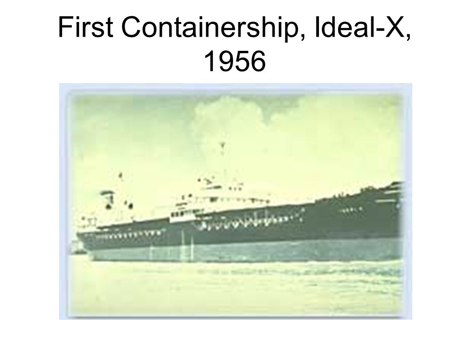 First Containership, Ideal-X, 1956