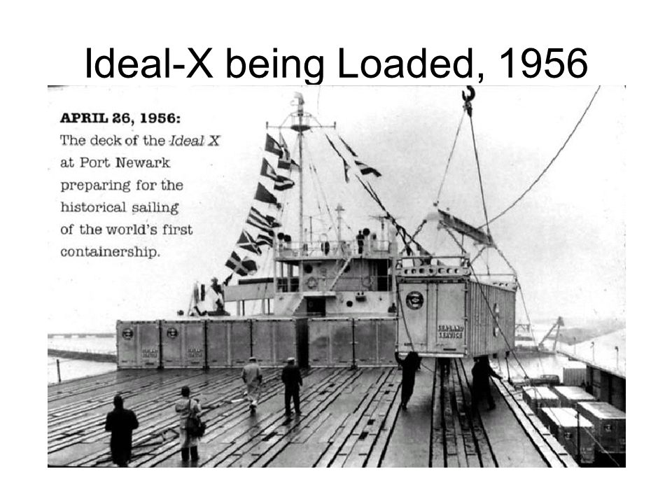 Ideal-X being Loaded, 1956 Source: Unknown