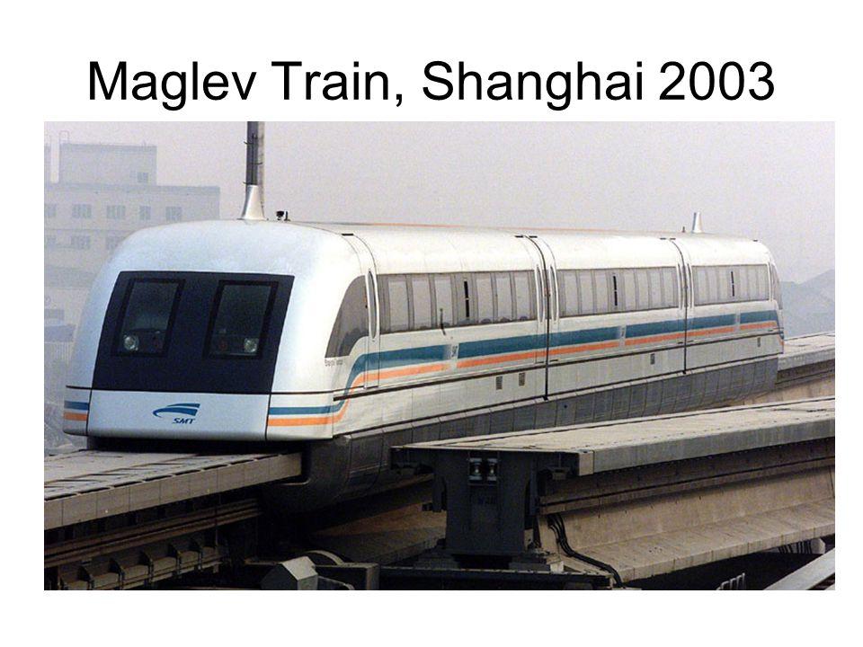 Maglev Train, Shanghai 2003 Source: webtv.net.