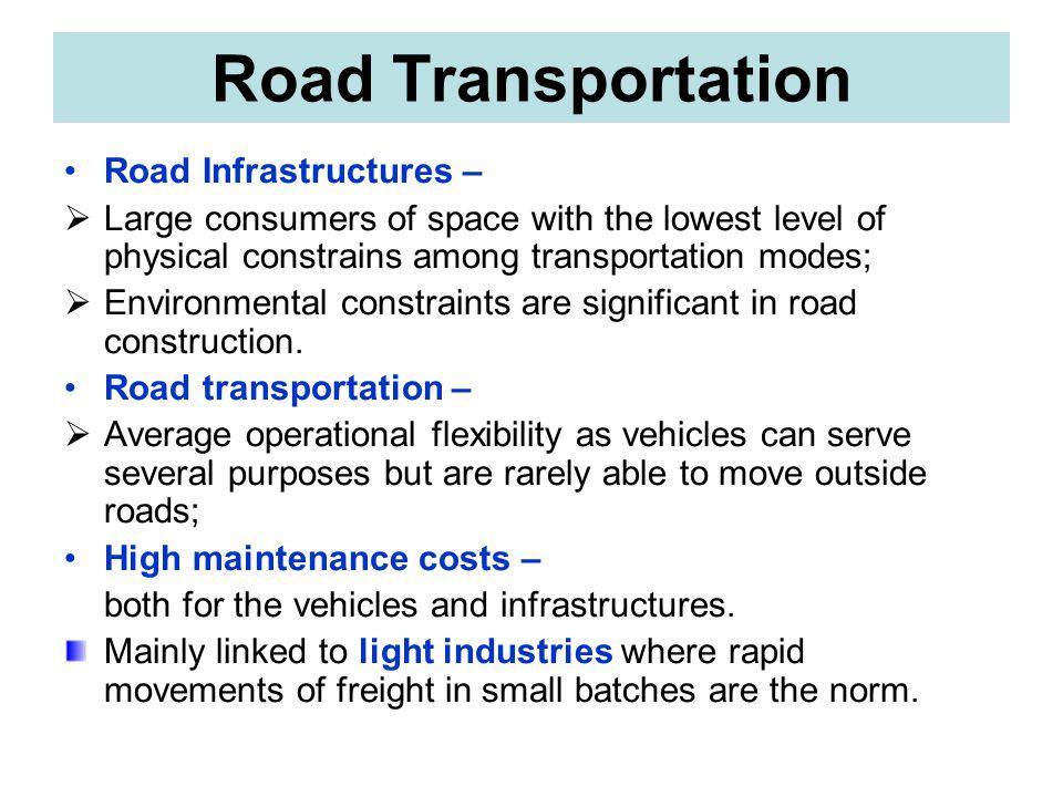 Road Transportation Road Infrastructures –