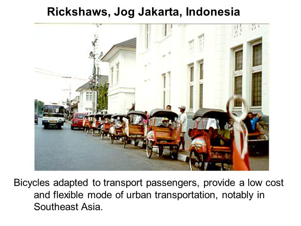 Rickshaws, Jog Jakarta, Indonesia