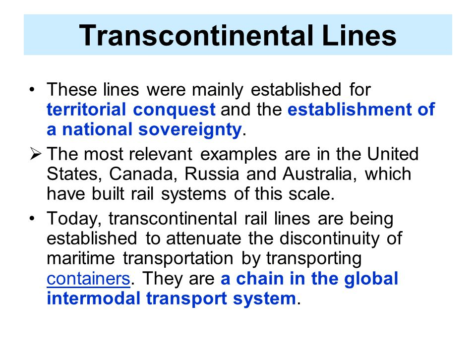 Transcontinental Lines