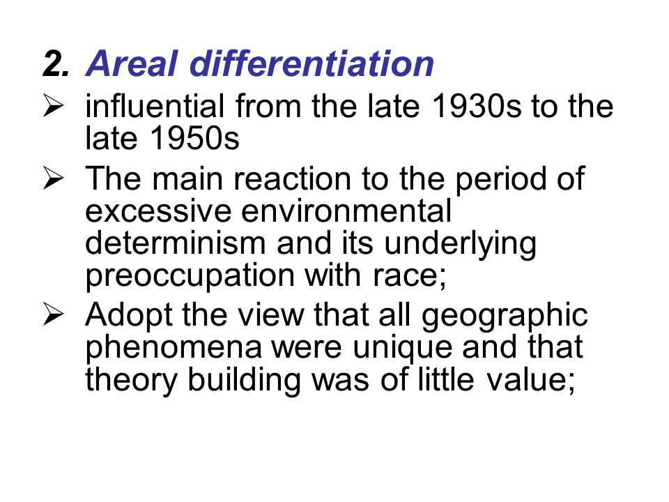 Areal differentiation