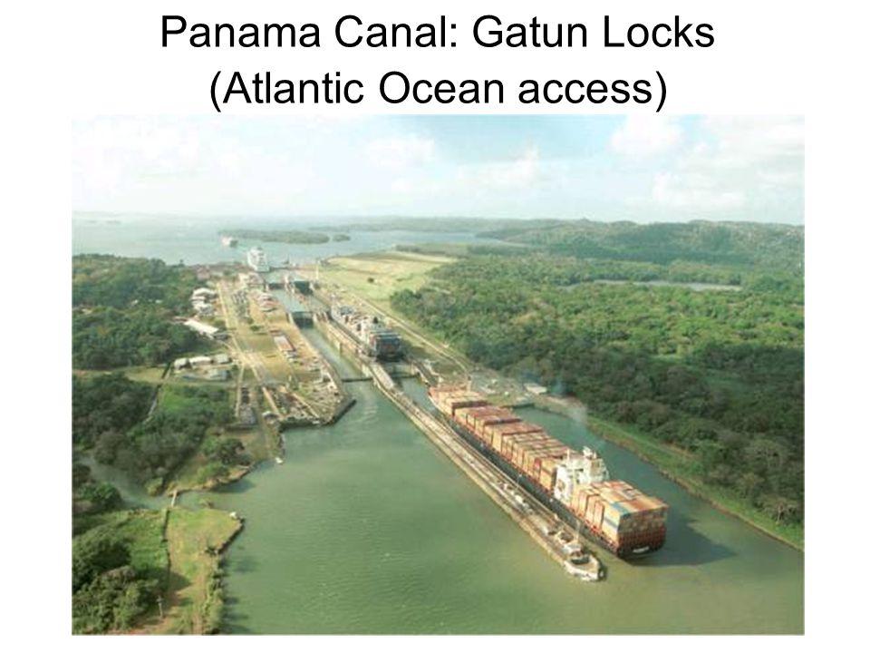 Panama Canal: Gatun Locks (Atlantic Ocean access)