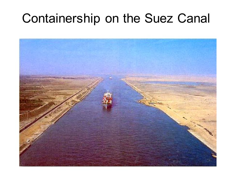 Containership on the Suez Canal