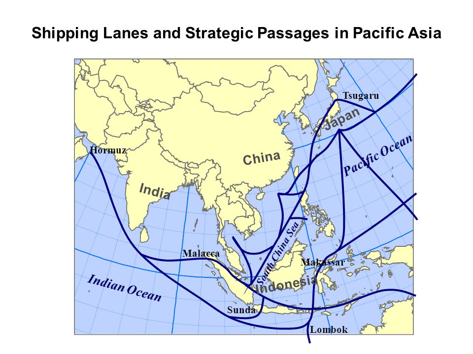 Shipping Lanes and Strategic Passages in Pacific Asia
