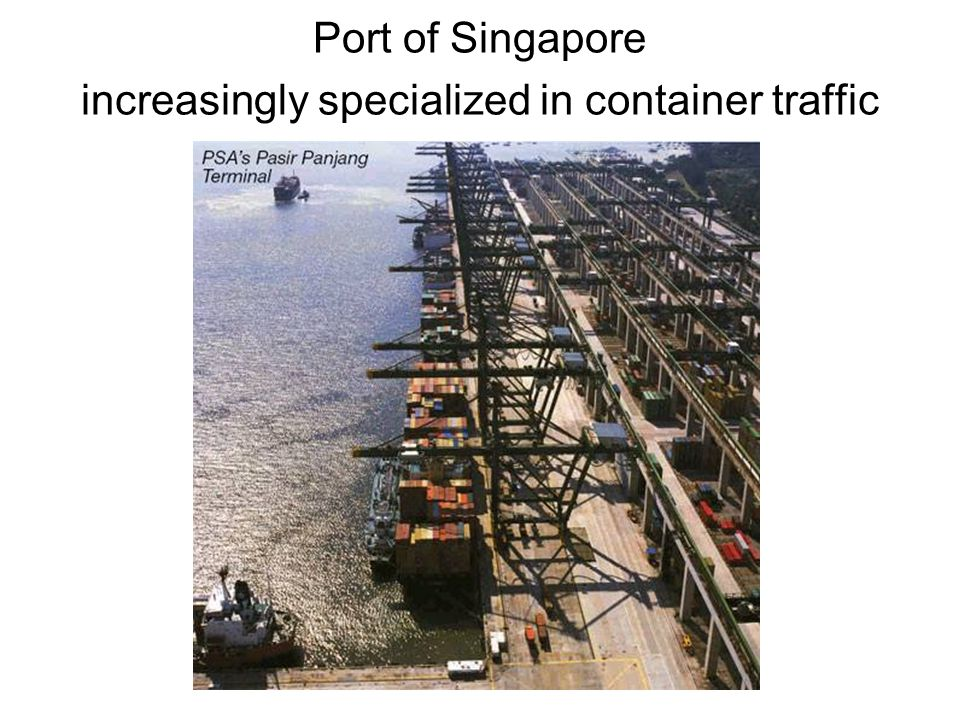 Port of Singapore increasingly specialized in container traffic