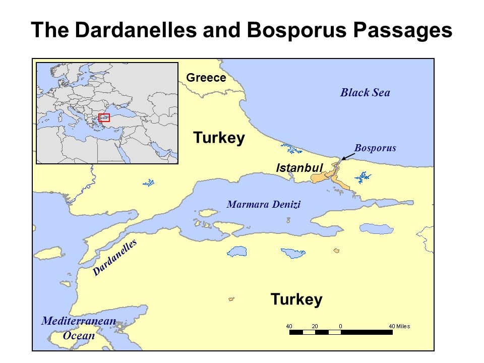 The Dardanelles and Bosporus Passages