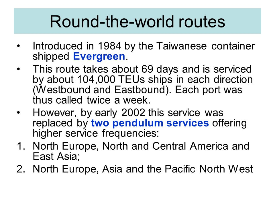 Round-the-world routes