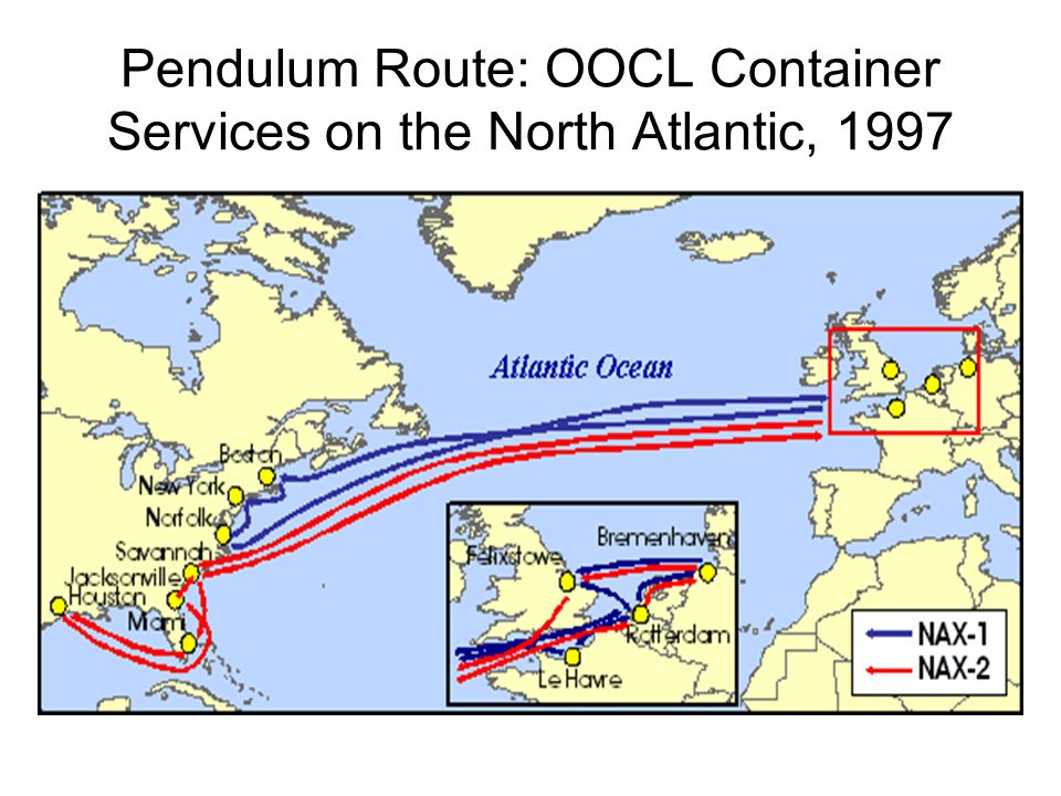 Pendulum Route: OOCL Container Services on the North Atlantic, 1997