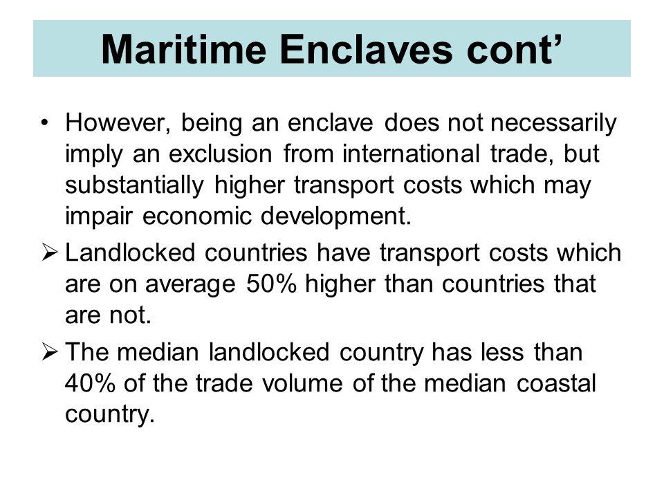 Maritime Enclaves cont'