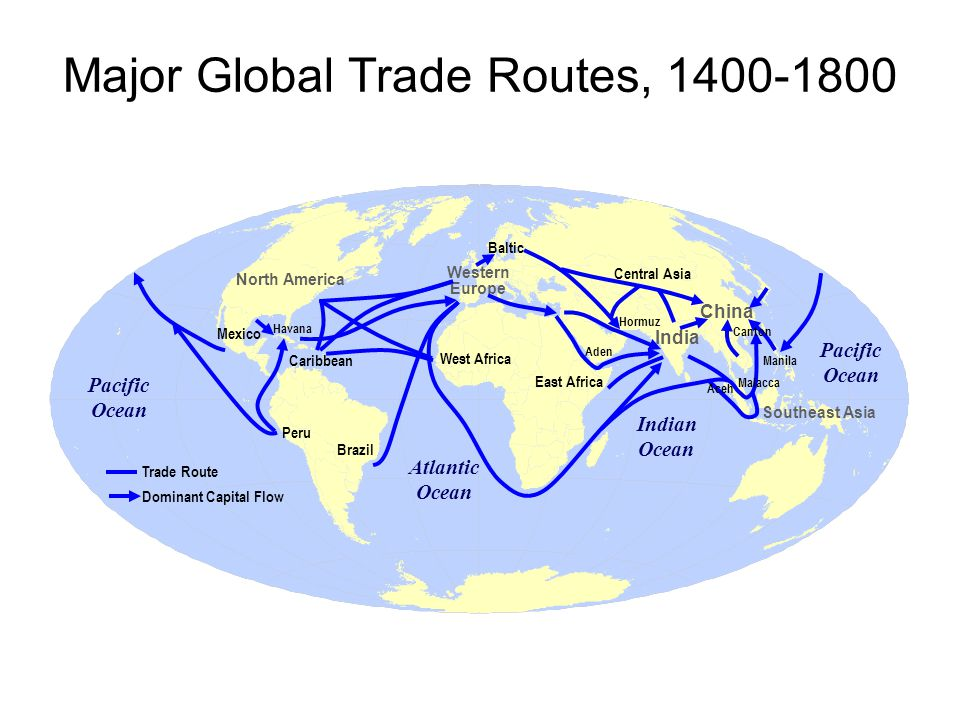 Major Global Trade Routes,