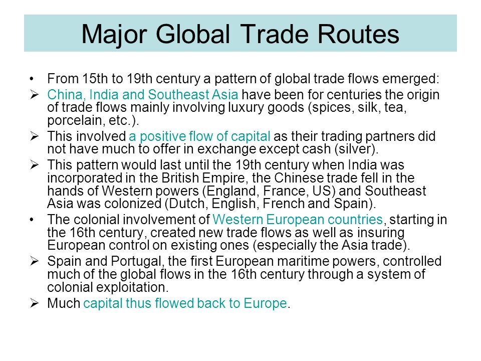 Major Global Trade Routes