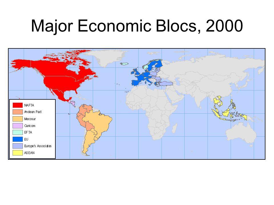 Major Economic Blocs, 2000