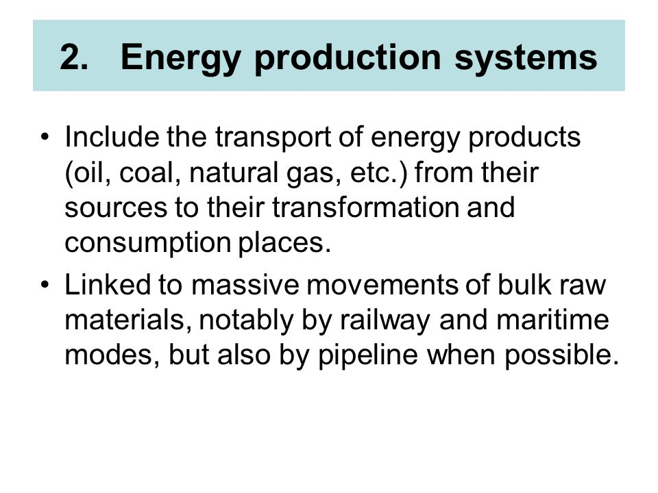 Energy production systems