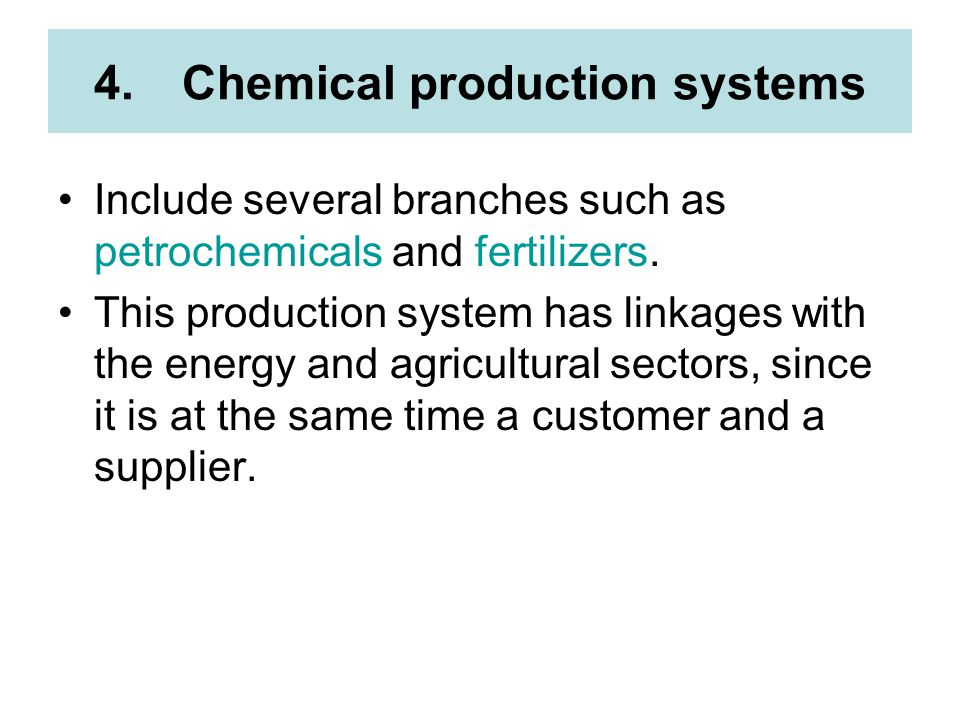 Chemical production systems