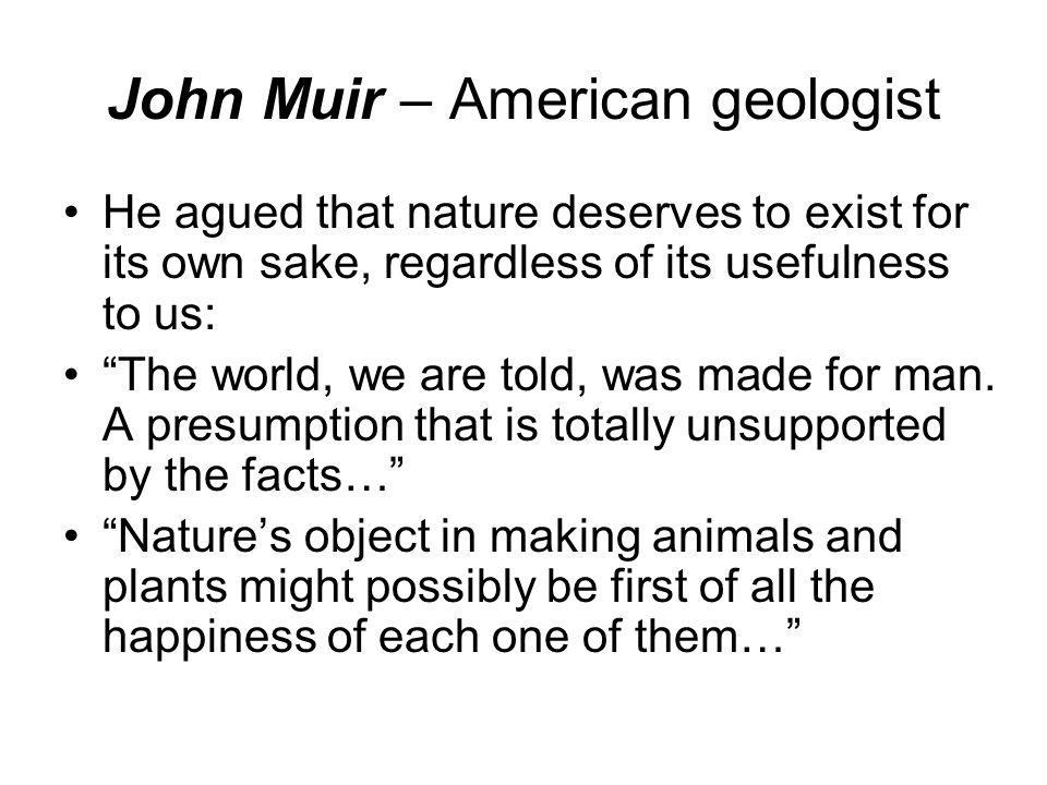 John Muir – American geologist