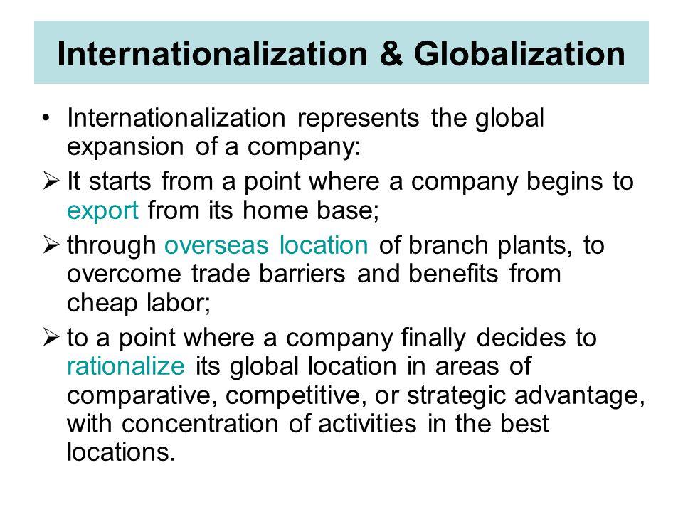 Internationalization & Globalization